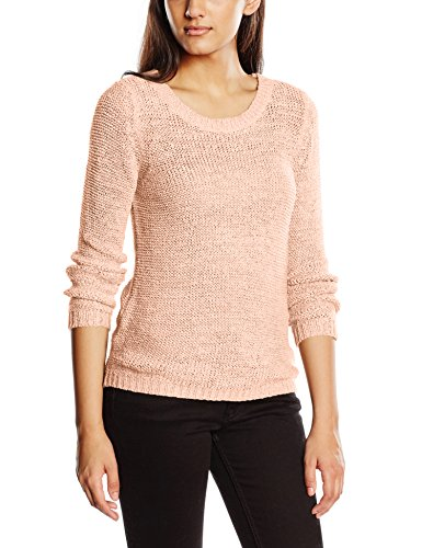 ONLY Damen Onlgeena XO L/S Pullover Knt Noos, Rosa (Strawberry Cream), 38 (Herstellergröße: M)