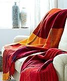 Lorenzo Cana High End Luxus Wolldecke aus Flauschiger Wolle Wohndecke Cottage Landhaus Decke 100% Wolle Sofadecke Picknickdecke Kuscheldecke Plaid 130 cm x 200 cm 96146