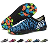 Barefoot Water Shoes Mens Womens Quick Dry Unisex Sports Aqua Shoes Lightweight Durable Sole For Beach Pool Sand Swim Surf Yoga Water Exercise (6UK/39EU, Style 6)