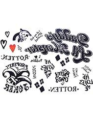 Tatouage Temporaire - Harley Quinn - Femmes - Fille - Carnaval - Halloween - Cosplay - Suicide Squad - Film - Tatouage - Idée Cadeau