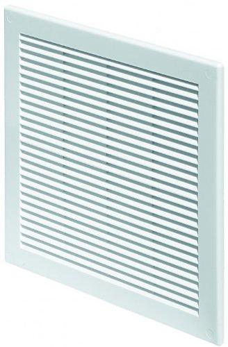Lüftungsgitter 30 x 30 cm Abschlussgitter Insektenschutz 300 x 300 mm weiß Gitter Lüftung TRU 10