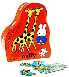 Miffy Caja con 6 Puzzles Animales de la Selva (Barbo Toys 9922)