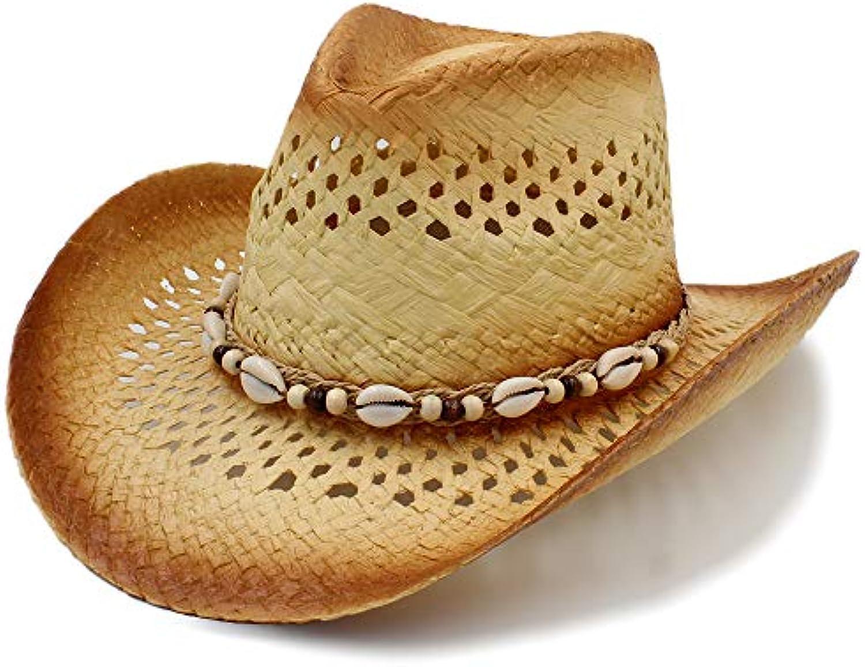 Y-WEIFENG New Cappelli da Cowboy da Uomo di da Paglia Treccia di Cappello  da di Cowboy con Cappello da Uomo di Cachemire... Parent bba2fc f90248a4ab07
