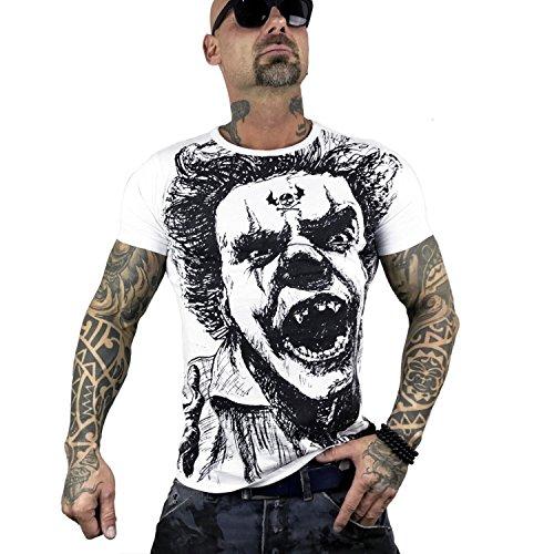 Yakuza Original Herren Allover King T-Shirt Weiß