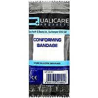 qualicare Kompression fit bequemes Erste Hilfe Bandage Unterstützung Single Pack–10cm x 4m–1Bandage preisvergleich bei billige-tabletten.eu