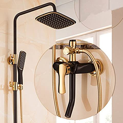 HiMqhy Retro Upscale Showerheads Hot And Cold Lift Up and
