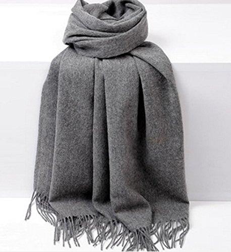 Écharpe épaississante Grand châle Noir Printemps Automne et hiver Femme Double usage Longue section Couleur solide ( couleur : # 6 ) 7#