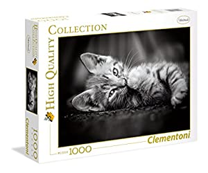 Clementoni 39422 Puzzle Contour Puzzle 1000 Pieza(s) - Rompecabezas (Contour Puzzle, Animales, Adultos, Kitty, Gato, 14 año(s))