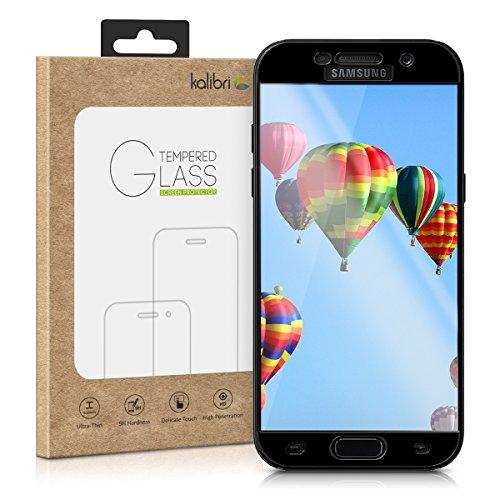 kalibri-Echtglas-Displayschutz-fr-Samsung-Galaxy-A5-2017-3D-Schutzglas-Full-Cover-Screen-Protector-mit-Rahmen-in-Schwarz