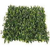 YNFNGXU Pannello di siepe Artificiale, Parete vegetale Artificiale Verde con Fiore Sfondo Muro recinto di casa Giardino Balcone Decorazione (Color : 02)