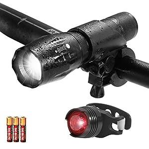 LED Fahrradbeleuchtung, 1000 Lumen 3 Licht-Modi LED Fahrradbeleuchtung...