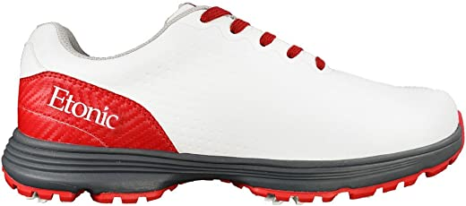 Etonic Men's Stabilizer Shoes, White/Red , Size 8.5 Medium