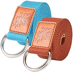 voidbiov Yoga Strap 2.5M Perfect for Holding Poses Improving Flexibility and Physical Therapy Durable Cotton Belt 8ft with Adjustable D-Ring Buckle