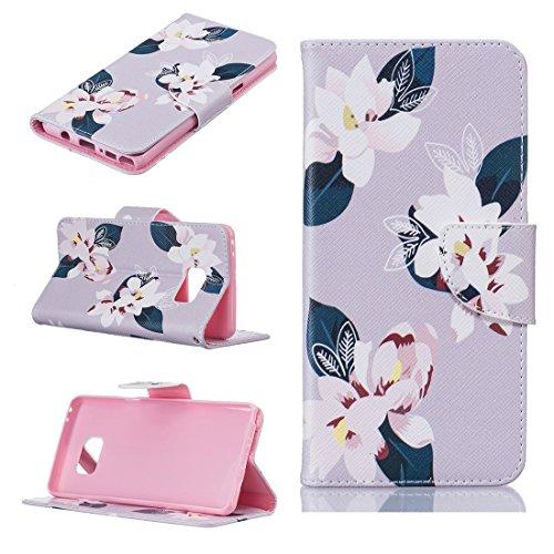 Nancen Samsung Galaxy Note 7 / SM-N9300 Premium Leder Flip Handyhülle / Wallet Case, Blumen Landschaften Tiere und Bunt Printed Muster - Bookstyle Cover Schutzhülle mit Standfunktion, Brieftasche und Karte Tasche.