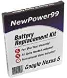 Akku-Austausch-Kit für das Google Nexus 5 und LG Nexus 5 mit Installations-Video, Werkzeuge und langarbeitenden Akku