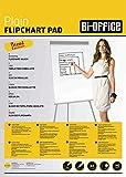 Bi-Office Flipchartblock A1, Blanko, 40 Blättern, 60 g/m² Papier, 5er Pack