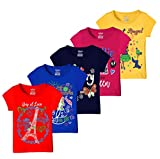 #3: Kiddeo Girl's Cotton T-Shirt - Pack of 5