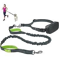 [Gesponsert]Jogging Hundeleine Freihandleinen für Hunde Leine elastisch von Pecute Reflektierende Elastische Nylonband mit verstellbarem Hüftgurt und Bauchtasche ideal für mittelgroße und große Hunde bis zu 1.5 m