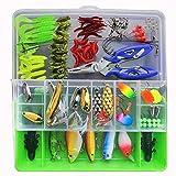 SKYSPER Kit Leurres de Pêche avec Boîte à Outils Portable Appâts Mous et Appâts...