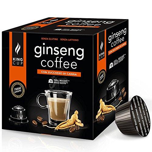 Café con Ginseng azúcar morena - 10 Cápsulas al Ginseng Dolce Gusto* - King Cup Ginseng Coffee
