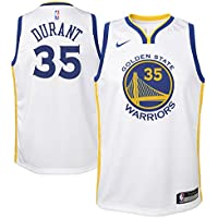Nike NBA Golden State Warriors Kevin Durant 35 KD 2017 2018 Association Edition Jersey Oficial Home, Camiseta de Niño