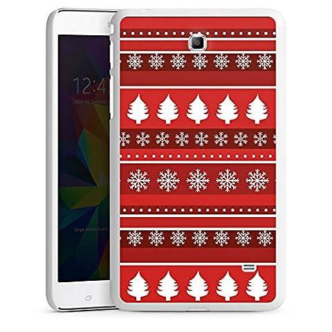 Samsung Galaxy Tab 4 7.0 Housse Étui Protection Coque Arbres Noël Rouge