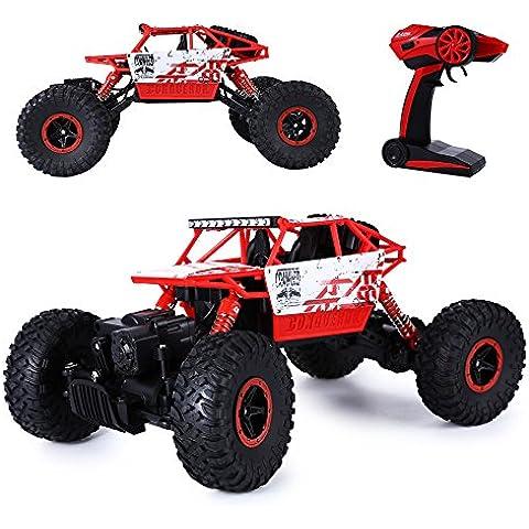 GearBest HB P1801 2.4GHZ 1:18 Scala RC Auto Controllo Remoto Fuoristrada per Bambini Rock Crawler 4WD (rosso) - Basso Pro Pneumatici