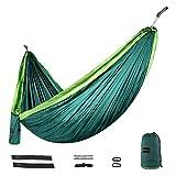 isYoung Hamac de Camping, Nylon à Parachute, avec 2 Mousquetons et 2 Sangles Inclus, pour Randonnée Voyage Plage Jardin
