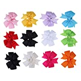 #9: 12pcs Kid Baby Girl Toddler Cute Bowknot Flower Headband Hair Band Headwear