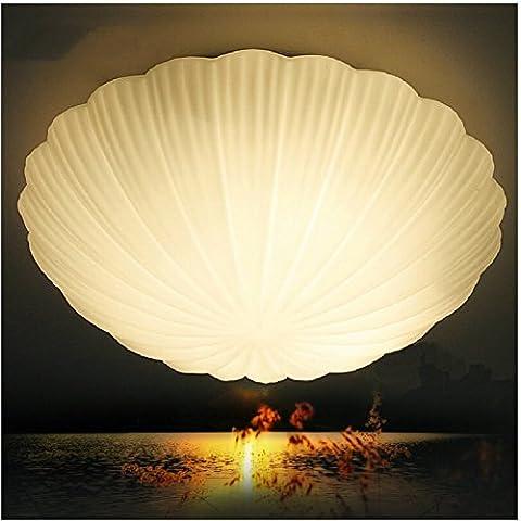 VORUL Conchas marinas del Mediterráneo LED lámpara de techo balcón corredor de tránsito para adherir la habitación niños acogedores dormitorios estudio lámpara acristalada