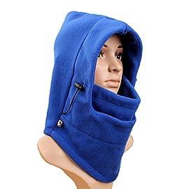 NNIUK 3 in 1 Warm Thick antivento Sottocasco Hood completa di sci del panno  morbido termico Sport Equitazione maschera di protezione regolabile  cappello ... dad644197a24