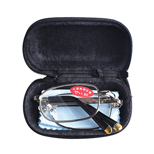 Southern Seas Mens Womens Folding Reading Travel +1.75 Glasses w Case 16 Strengths Available by Southern Seas