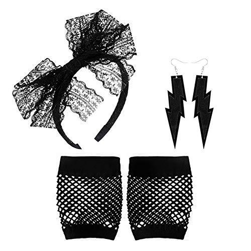 Auidy_6TXD 80s accesorios de disfraz para mujeres