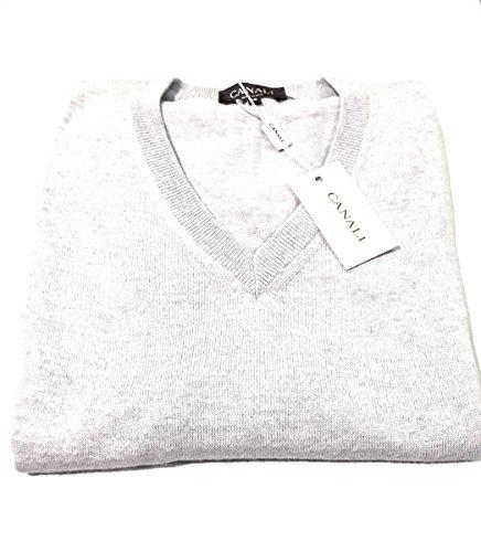 canali-k00020-11-gilet-in-maglia-100-lana-merino-extrafine-grigio-silver-58-grigio-silver