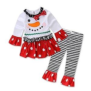 Vectry Ropa para Disfraz Conjunto Recién Nacido Bebé Niña Conjunto De Trajes De Pantalón A Rayas De Camiseta De Muñeco… 4