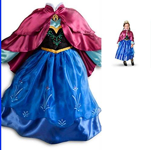 Imagen de frozen vestido niñas disfraz anna elsa 120 4 5 años  alternativa