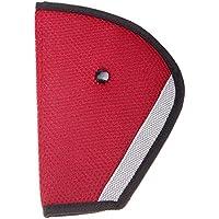 Calistouk - Arnés para cinturón de seguridad para niños en coche Rojo