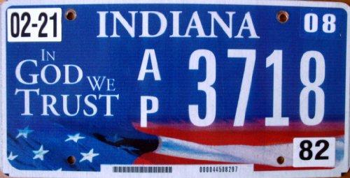 USA Nummernschild INDIANA ~ US Kennzeichen License Plate ~ Blechschild