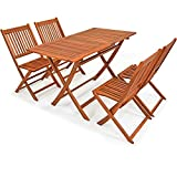 Deuba | Ensemble de Jardin 4+1 • Bois d'acacia • Sydney Light • 1 Table + 4...