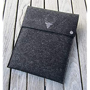 zigbaxx Tablet Hülle WOOD STAR Case Sleeve Filz u.a. für iPad 9.7, iPad Pro 9,7/10,5/11 Zoll (2018), iPad mini 2/3/4…