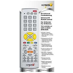 Heitech Télécommande infrarouge universelle 10 en 1 compatible avec toutes les marques courantes