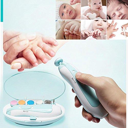 HCFKJ Electric Nail Trimmer das perfekte Produkt für Ihr Baby für glatte Baby Nägel (Nagel Trimmer Elektro)