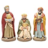 Holyart Re Magi Terracotta Decorata presepe da 30 cm