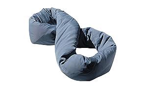 Huzi Design Infinity Pillow - H1267G - Oreiller de voyage, coussin de voyage. Support nuque, cou et menton Taille Unique (Gris)