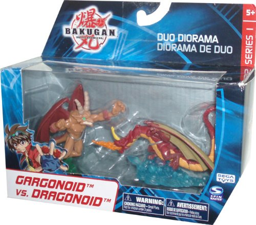 BAKUGAN Battle Brawlers Series 1 Duo Diorama 2 Pack Brawl Mini Figure - Gargonoid vs Dragonoid by (Bakugan Brawlers-serie Battle)