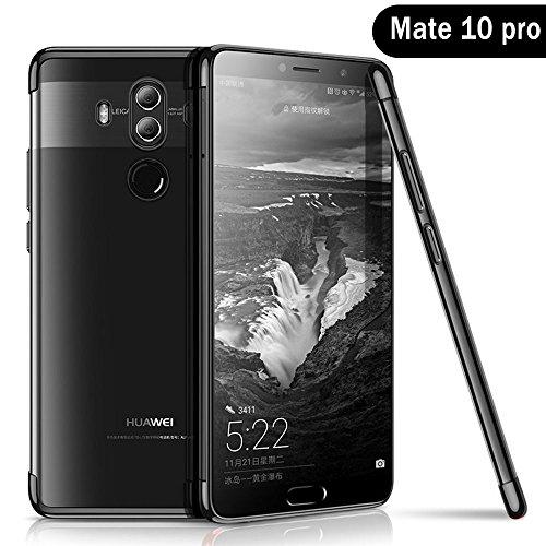 Huawei Mate 10 Pro Hülle, AOLANDER Huawei Mate 10 Pro Handyhülle TPU Case Cover, Leicht Flexible Rugged Armor Hybrid Defender Shockproof Schutzhülle für Huawei Mate 10 Pro (Schwarz)