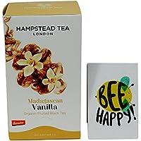 Hampstead Tea - Thè Nero Darjeeling con Vaniglia del Madagascar - da Agricoltura Biodinamica Certificato Demeter- 20 Filtri - Biodinamica Tè Verde