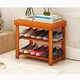 YLLXJ Estante de zapatos de bambú Listones Hogar Hogar Conjunto de múltiples capas Shoebox Tipo económico Banco de zapatos Estante de almacenamiento de zapatos de bambú natural 100% (Tamaño : B2)