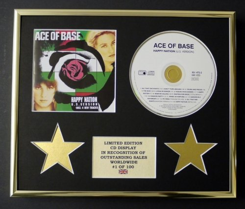 ACE OF BASE/CD-Darstellung/Limitierte Edition/COA/HAPPY NATION (Glas Ace)