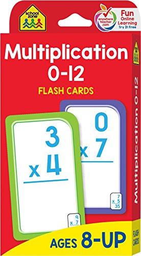 Multiplication 0-12: Flashcards